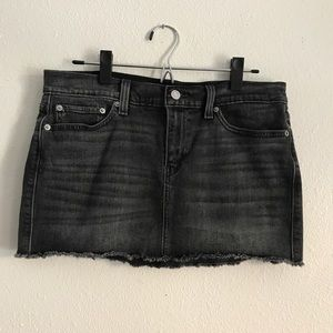 LEVI'S Black Denim Mini Skirt